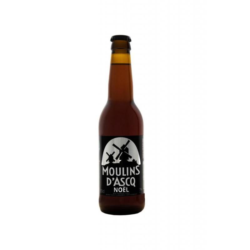 Bière Moulins d'Ascq BIO NOËL 7° Alc Vol 33cl